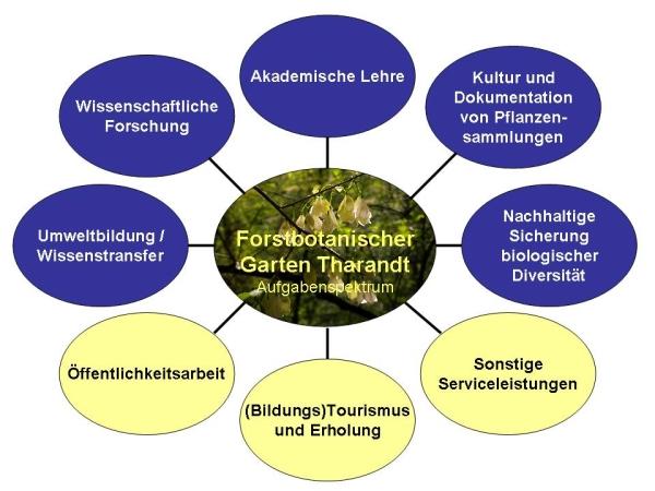 Aufgabenspektrum des Forstbotanischen Gartens